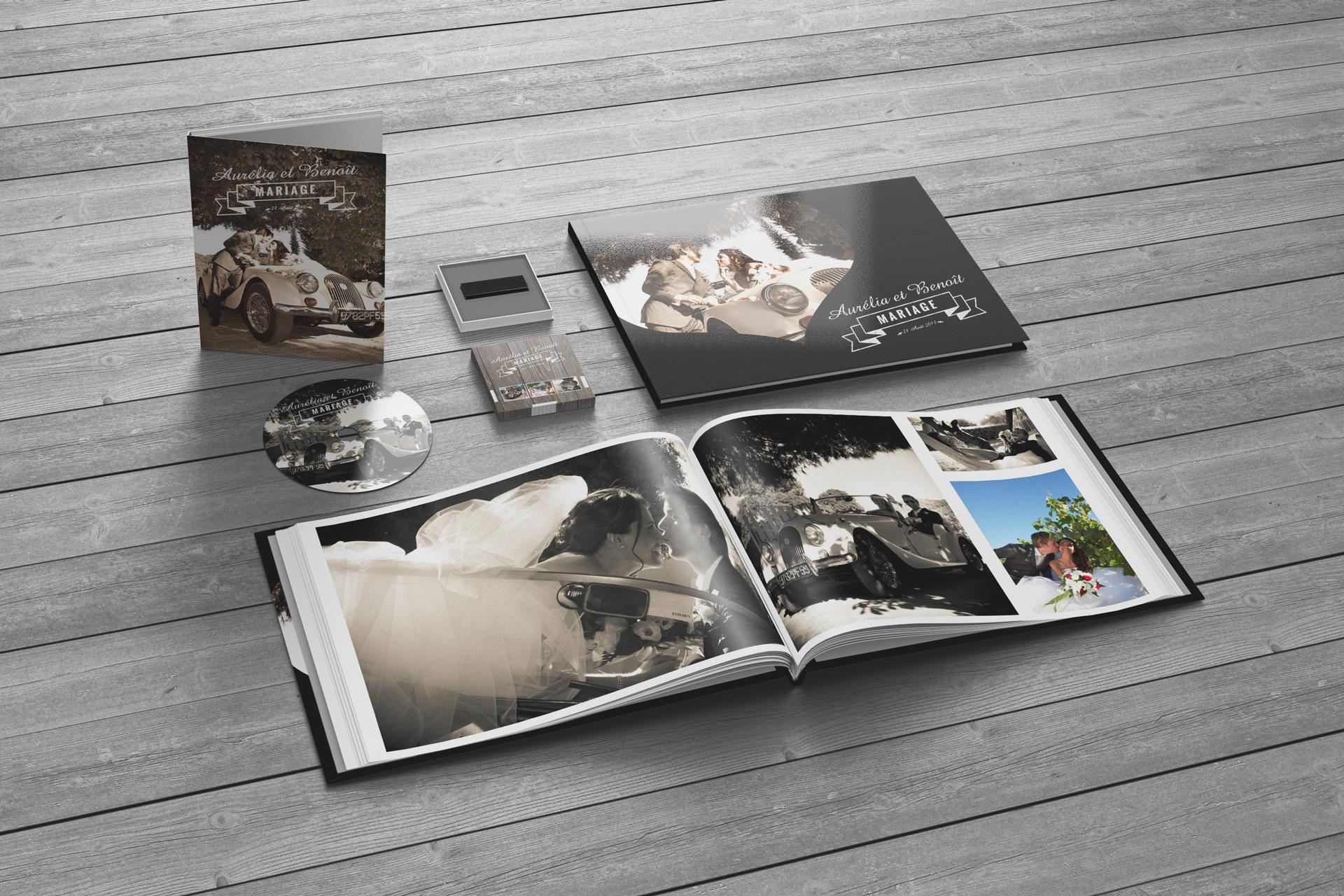 jaquette dvd livre et clef usb photos et - Cl Usb Personnalise Mariage